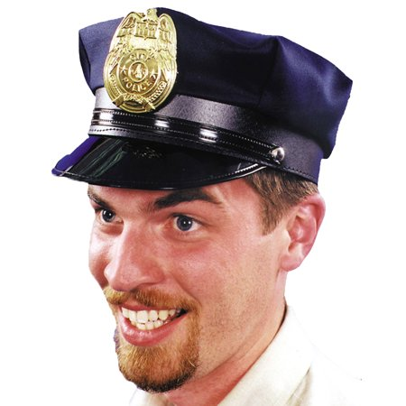 Morris Costumes Mens Police Hat Navy 1 Size Halloween Accessory](Halloween Navy Costumes)