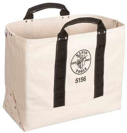 "KLEIN TOOLS Tool Tote,1 Pocket,19""x9""x15"",Tan 5156"