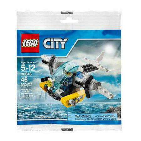 City Prison Island Helicopter Mini Set LEGO 30346 [Bagged] (Lego Mine Set)