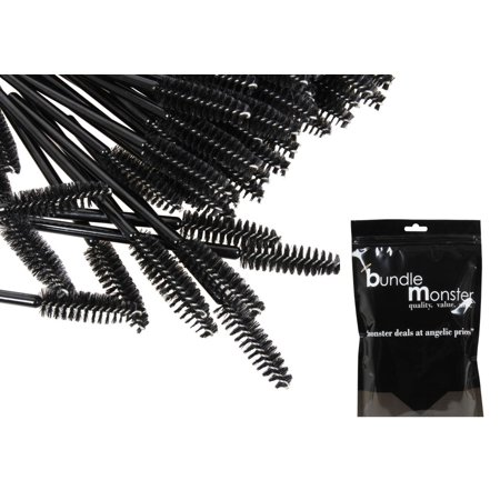 (B.M.C 100 pc. Disposable Cosmetic Eye Wands Lip Brush Makeup Applicators)