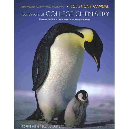 Foundations of College Chemistry, Solutions Manual