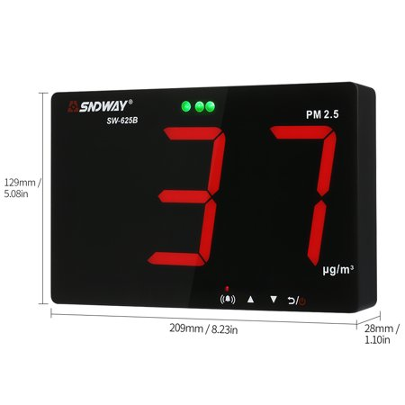 SNDWAY PM2.5 Detector with Data Storage Function Wall-mounted Air Inspection Instrument Dust Monitor 9.6-inch Large Screen - image 3 de 7