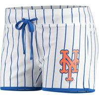 New York Mets Concepts Sport Women's Vigor Sleep Shorts - White/Royal