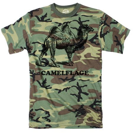 Camo Camelflage Tshirt Funny Sarcastic Army Tee For