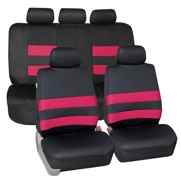 FH Group Premium Water Resistant Neoprene Pink Full Set Car Seat Covers