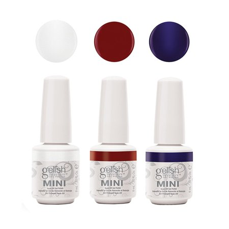 Gelish Mini Bottles Soak Off Solid Matadora Gel Nail Polish Collection, 3-Pack