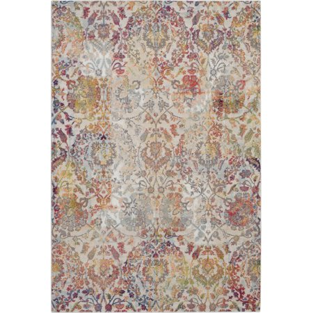 French Country Kitchen Rugs (Nourison Global Vintage French Country Damask Ivory/Orange Area Rug )