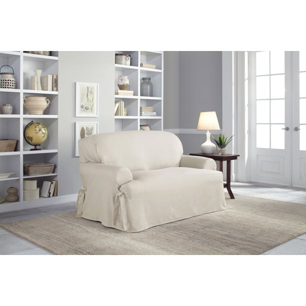 Serta 100% Cotton Duck Relaxed-Fit Furniture Slipcovers ...