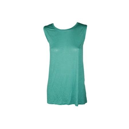 Lauren Ralph Lauren Plus Size Turquoise Jersey Tank Top  1X (Turquoise Tank Top)