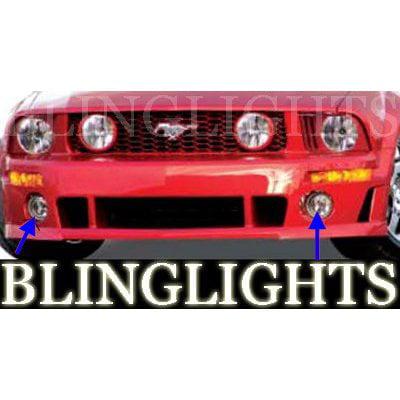 New 2005 2006 2007 2008 2009 Ford Mustang Roush Body Kit Bumper Foglamps Driving Fog Lamps Lights ()