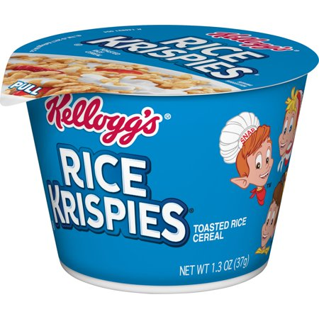 - Kellogg's Rice Krispies Breakfast Cereal in a Cup, Original, Bulk Size, 1.3 Oz, 12 Ct