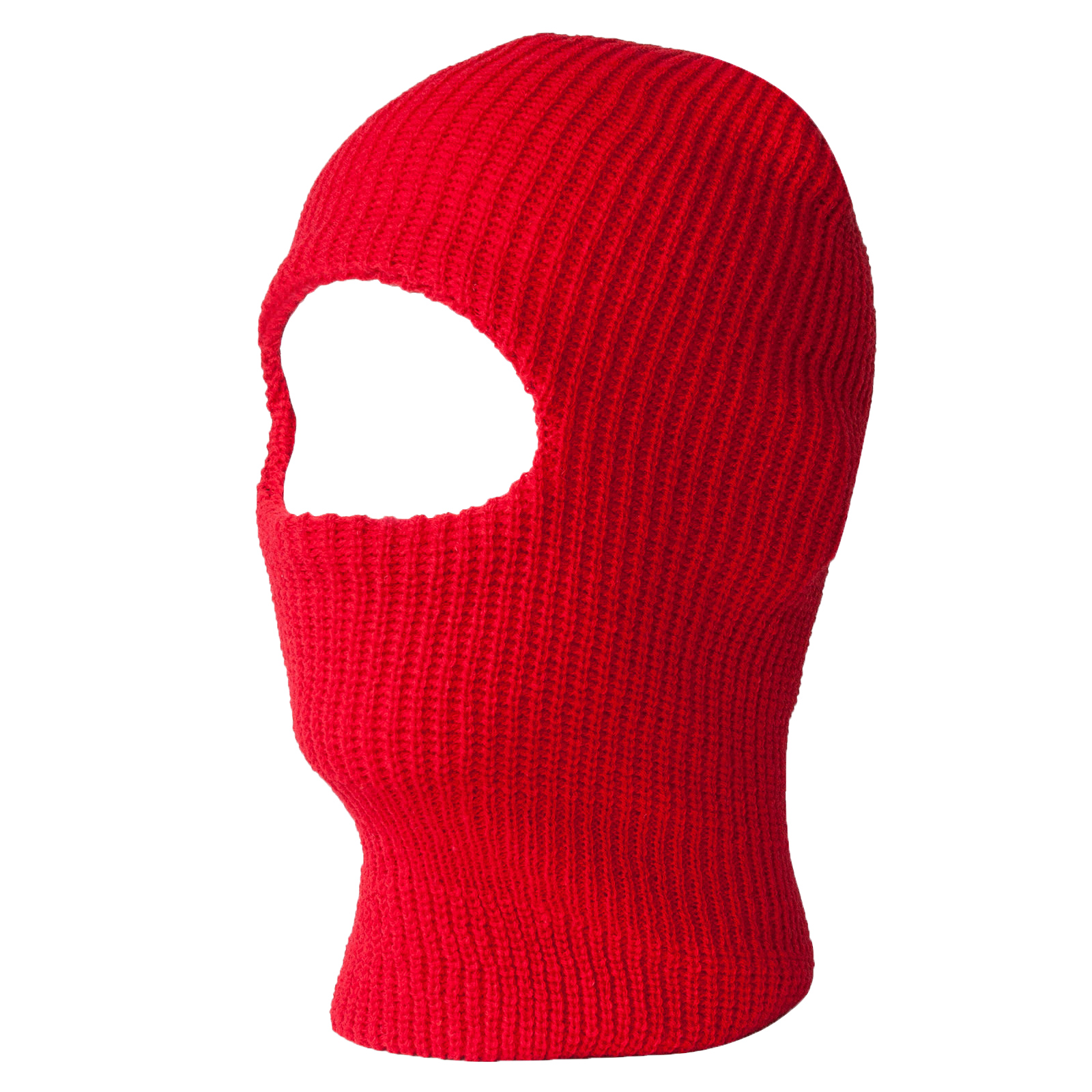 Red One Hole Ski Mask by