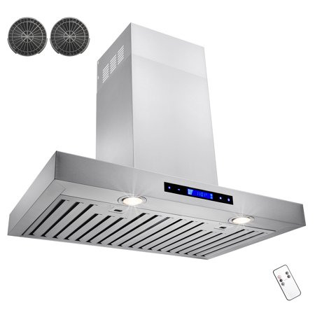 """AKDY 30"""" Stainless Steel Wall Mount Powerful Kitchen Range Hood Stove Vents with Carbon Filters"""