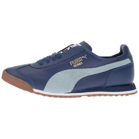 44cbb9a766ed16 PUMA - PUMA 362410-03   Men s Roma OG 80S Sneakers Twilight Blue Blue Fog -  Walmart.com