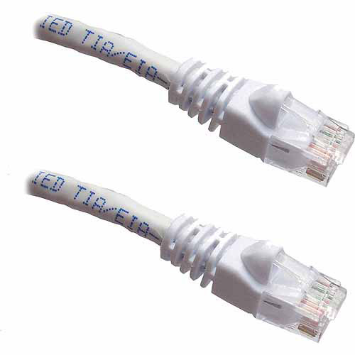 Professional Cable 100' Gigabit Ethernet UTP Cable with Boots, White