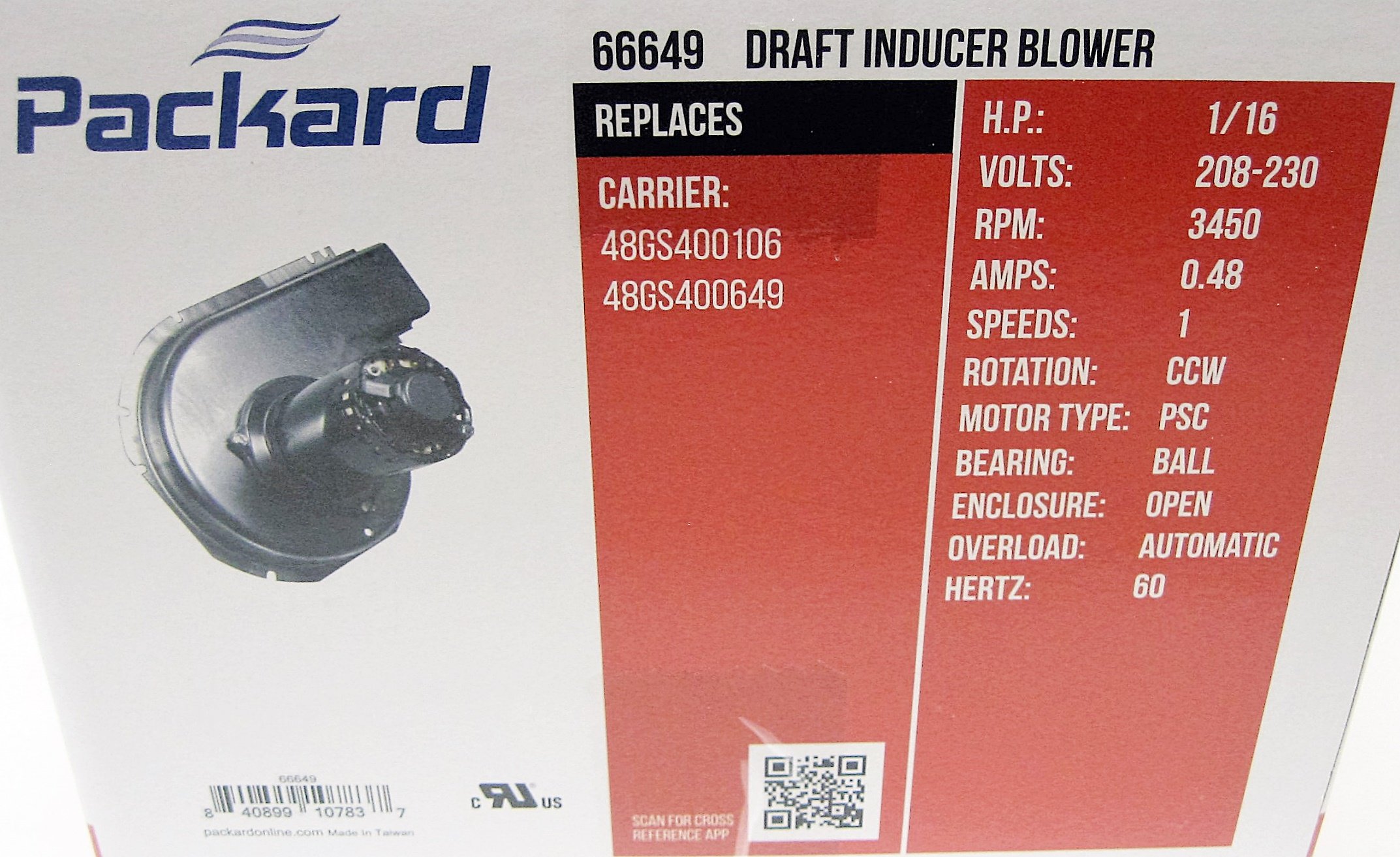 66649 packard draft inducer furnace blower motor for carrier 66649 packard draft inducer furnace blower motor for carrier 48gs400106 48gs400649 walmart publicscrutiny Choice Image