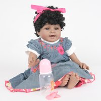 Reborn Toddler Baby Doll Artificial Girl 23 Inch Vinyl Silicone Lifelike Toy