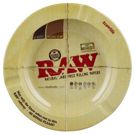 Raw Round Metal Ashtray - (Crystal Round Ashtray)