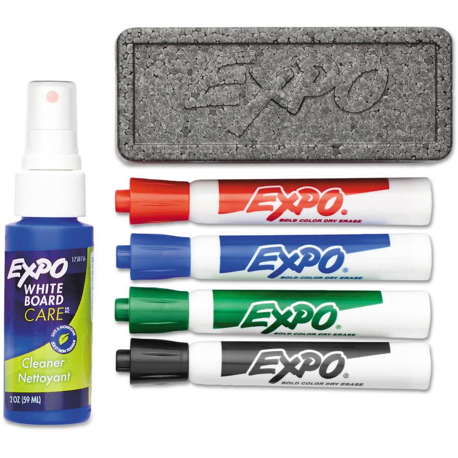 EXPO Dry Erase Starter Set, Chisel Tip, Assorted, 4/Set