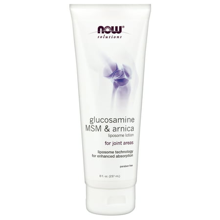 NOW Solutions, Glucosamine, MSM & Arnica Liposome Lotion, 8-Ounce