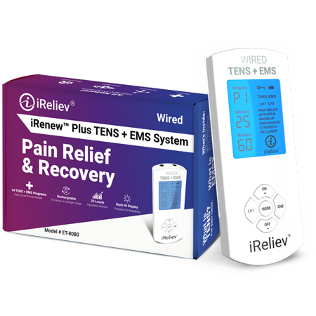 Premium TENS Unit + EMS Muscle Stimulator Pain Relief and Recovery System by - Muscle System