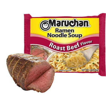 - (24 Packs) Maruchan Roast Beef Instant Ramen, 3 oz