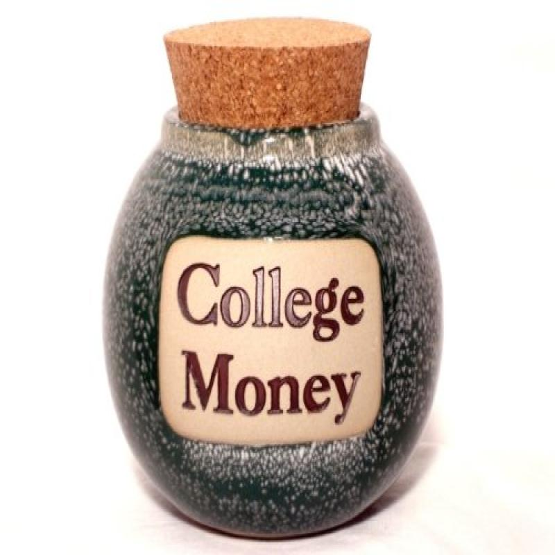 College Money Hand Crafted Word Jar...The Original Word Jar