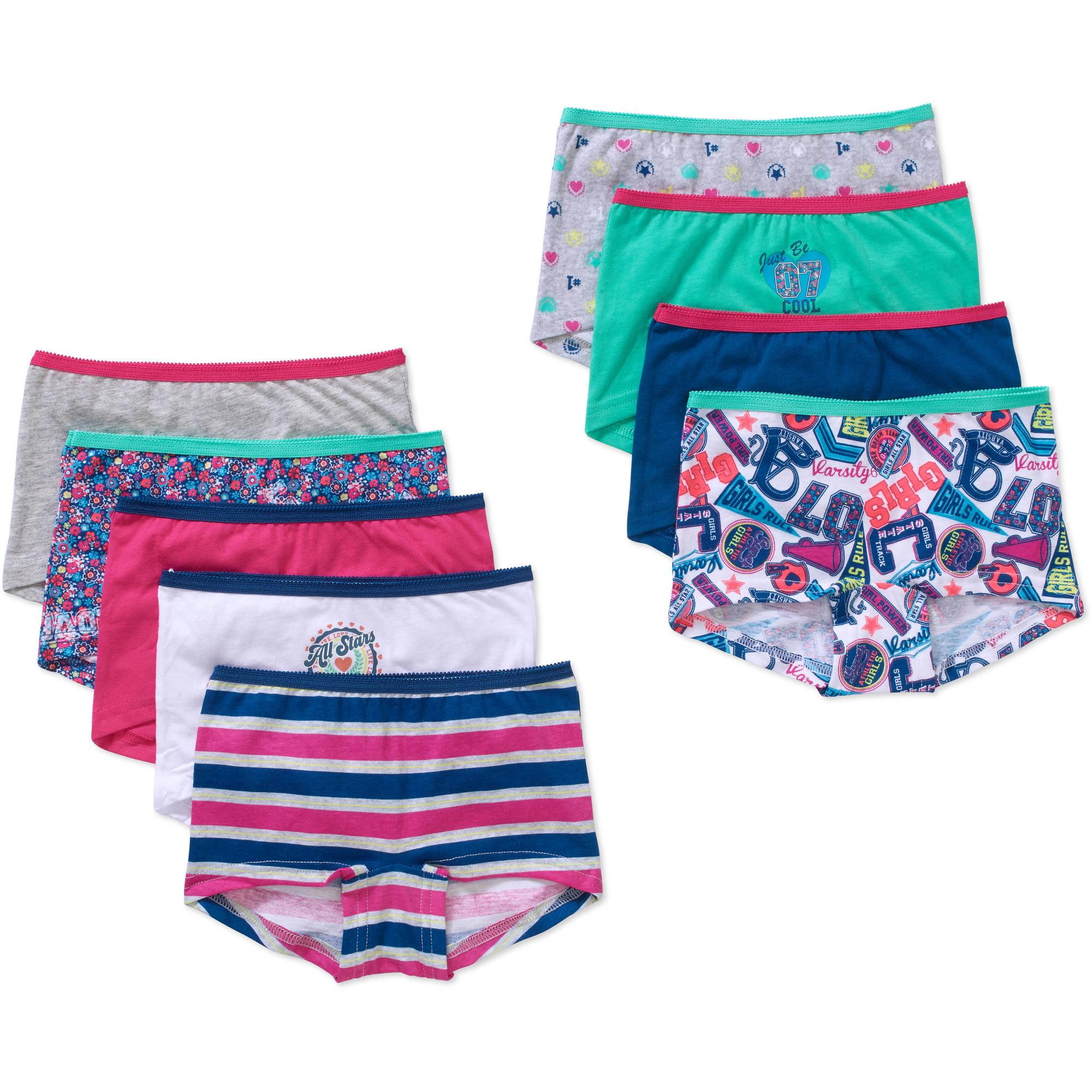 Girls' Cotton Boyshort Panty 9 Pack