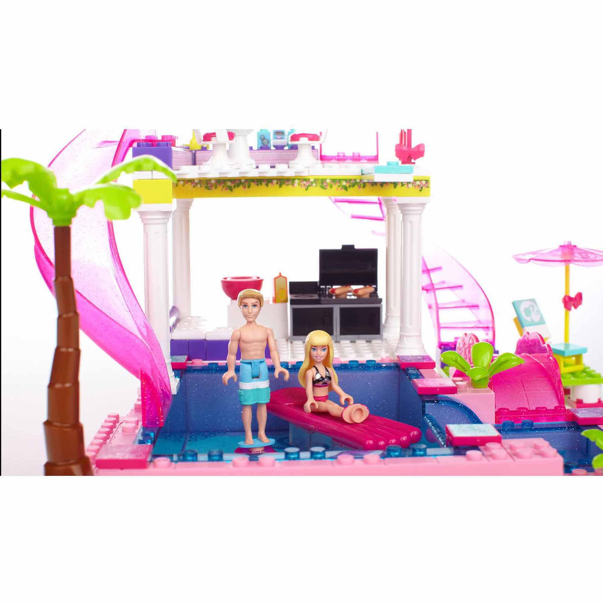 Mega Bloks Barbie Build 'n Style Pool Party Play Set