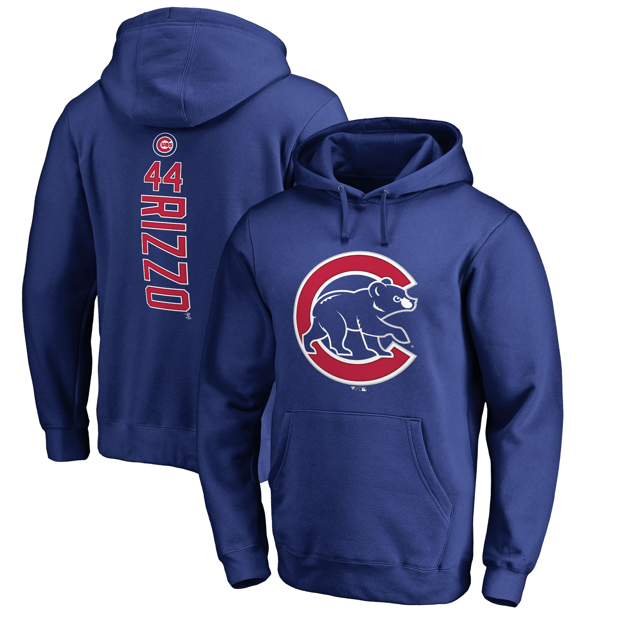 Anthony Rizzo Chicago Cubs Fanatics Branded Backer Pullover Hoodie - Royal