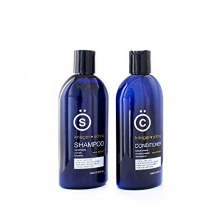 K + S Salon Shampoo and Conditioner Set for Men, Hair Loss, Dandruff, and Dry Scalp - 8