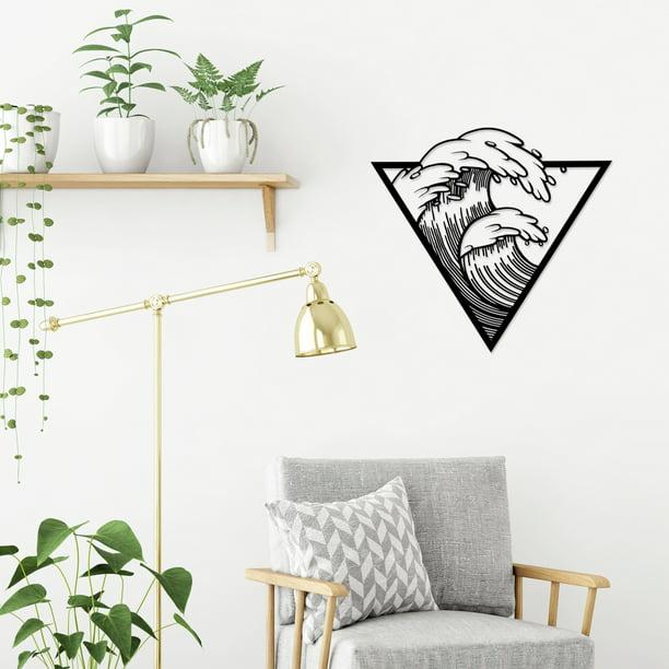 Ada Home Decor Waves Modern Metal Wall Art Walmart Com Walmart Com