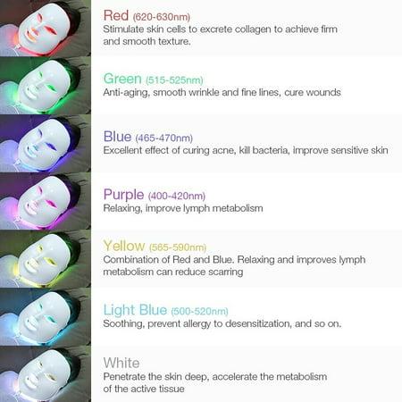 7 Colors LED Beauty Mask LED Seven-color Light Mask LED Mask Instrument IPL  Led Skin Rejuvenation Beauty Mask Beauty Therapy Whitening Tools   Walmart  Canada
