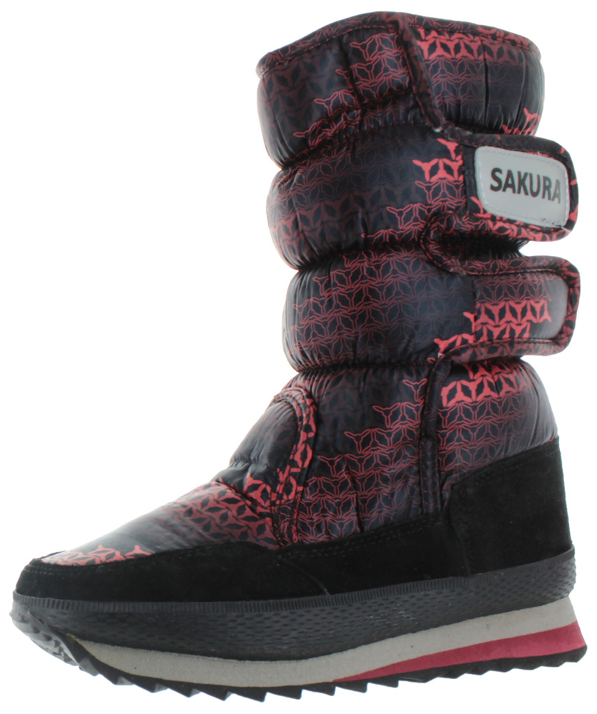 d36243400efcaf Moda Essentials - Moda Essentials Iggy Women s Nylon Snow Sneaker Booties  Boots Sherpa Lined - Walmart.com