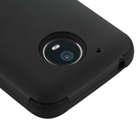 Motorola Moto E4 Plus Case, by Insten Tuff Hard Plastic/Soft TPU Rubber Case Cover For Motorola Moto E4 Plus, Rose Gold/Black - image 2 de 3