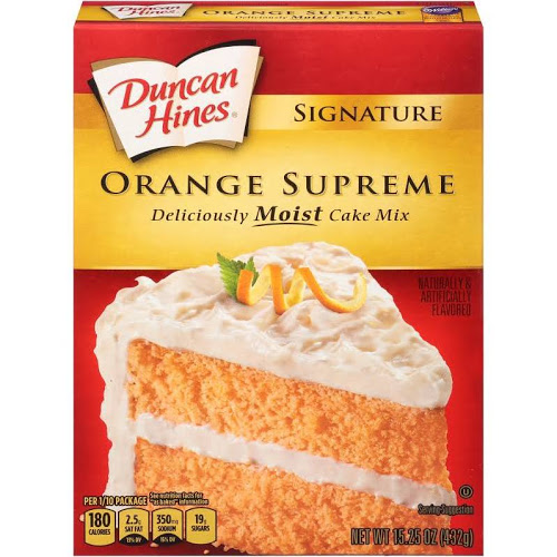 (2 Pack) Duncan Hines Signature Orange Layer Cake Mix, 15.25 oz
