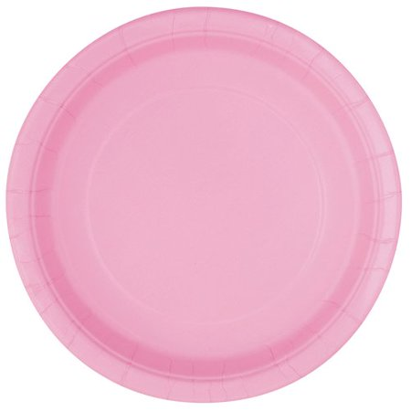 Light Pink Paper Dessert Plates, 7in, 50ct