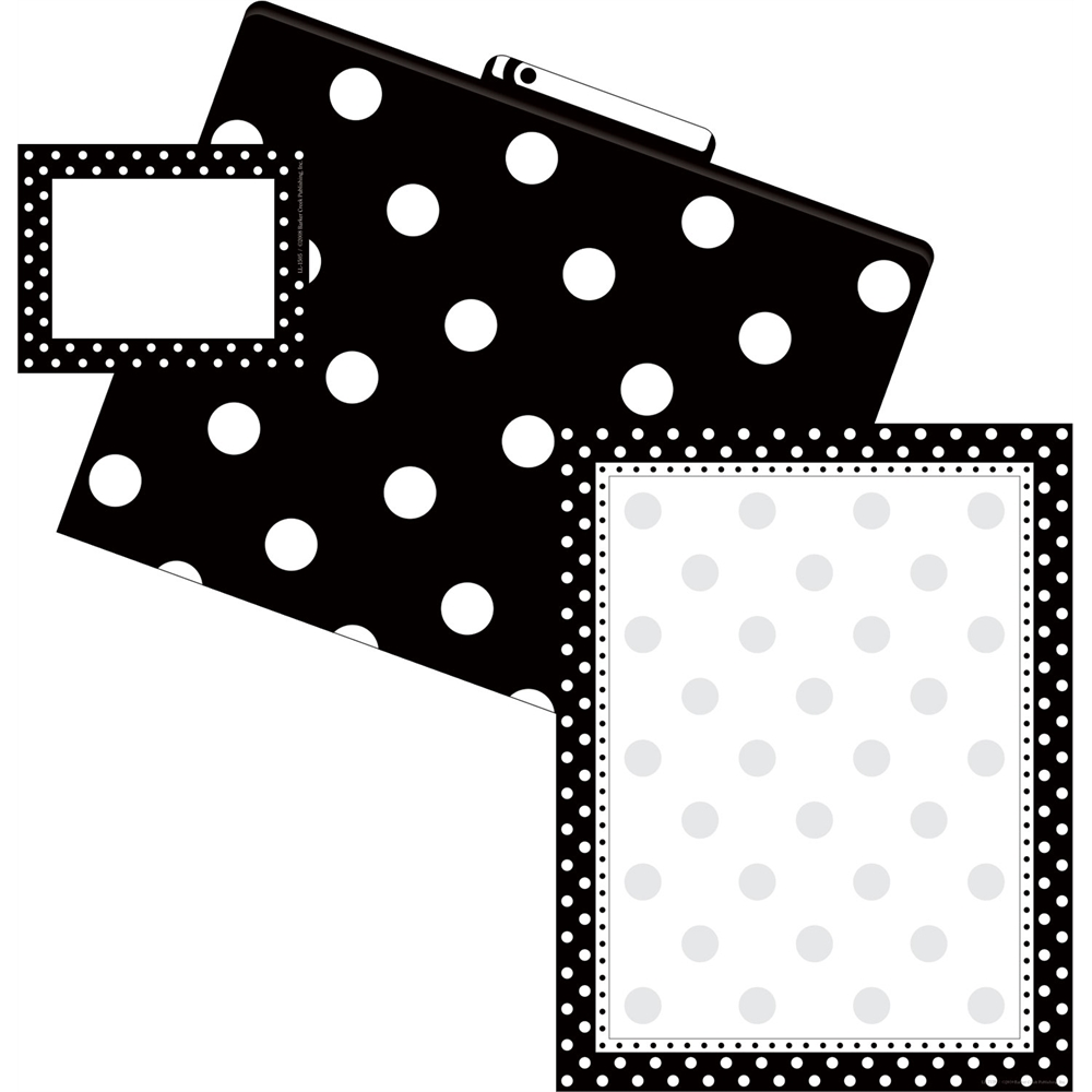 Barker Creek Get Organized Kit (Paper, Labels, File Folders) - Black Dot (BC0103)