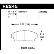 Hawk 94-01 Acura Integra (excl Type R) HP+ Street Front Brake Pads