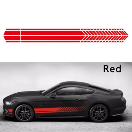 1Pair Car Sticker Sports Racing Stripe Graphic Stickers Body Side Door Vinyl Decals Auto Decoration Car Graphic Decal Sticker