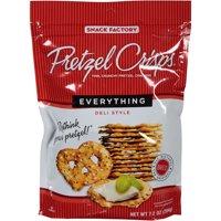 Snack Factory Pretzel Crisps Everything Deli Style Pretzel Crackers, 7.2 oz (Pack of 12)