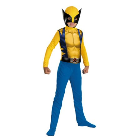 Wolverine Mask (Marvel Comics Boys Wolverine Costume with)