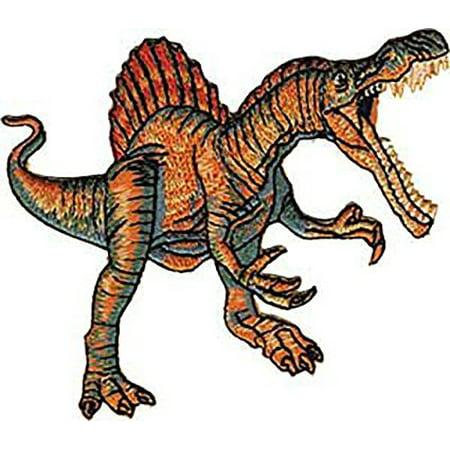 "Dinosaur Animal Extinct Orange Velociraptor 3.8"" x 3.1"" Logo Sew Ironed On Badge Embroidery Applique Patch"
