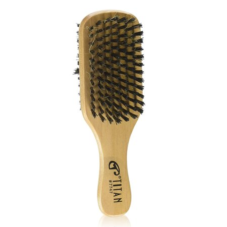 Titan Classic Double Sided 7747 Wave Hair Brush, Tan, 1 Ea, 3 (3 Side Brush)