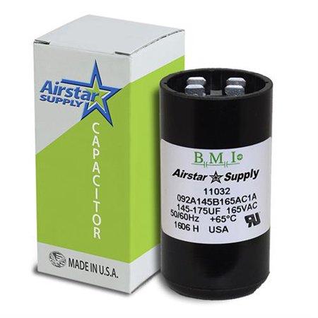 145 175 Uf   Mfd X 165 Vac Bmi Start Capacitor   092A145b165ac1a   Made In The Usa