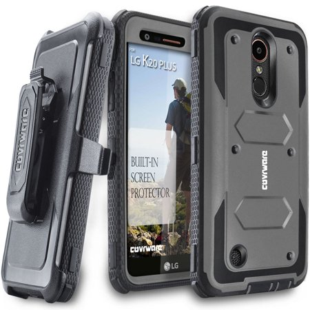 the latest 43395 51ff0 LG K20 Plus Case, COVRWARE [Aegis Series] with Built-in [Screen Protector]  Heavy Duty Full-Body Rugged Holster Armor Case [Belt Swivel ...