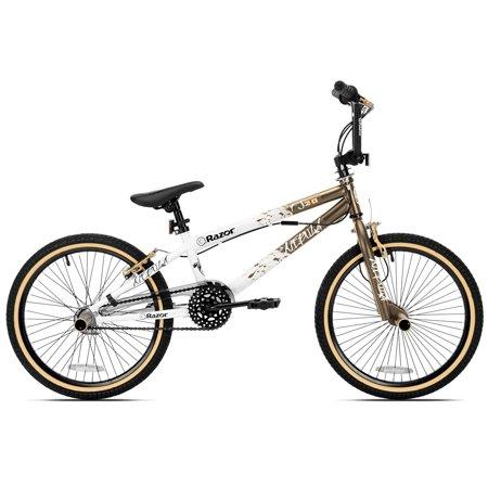 Razor 82034 Nebula Single Speed 20-Inch Wheel Freestyle Trick BMX Bike, Gold