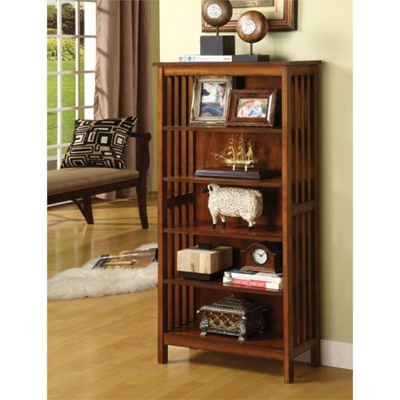 Furniture of America Davis 5 Shelf Bookcase in Antique -