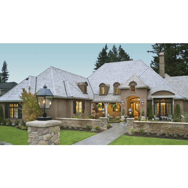 TheHouseDesigners-8292 Luxury French Country House Plan with Crawl Space Foundation (5 Printed Sets)