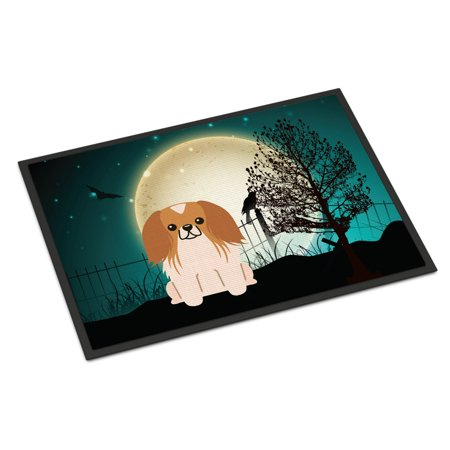 Halloween Scary Pekingnese Red White Door - Scary Halloween Door Decorating Contest Ideas